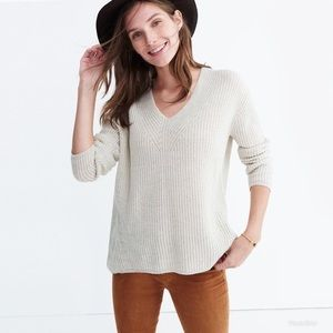 Madewell wood side pullover sweater